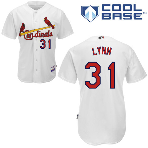 Lance Lynn #31 Youth Baseball Jersey-St Louis Cardinals Authentic Home White Cool Base MLB Jersey